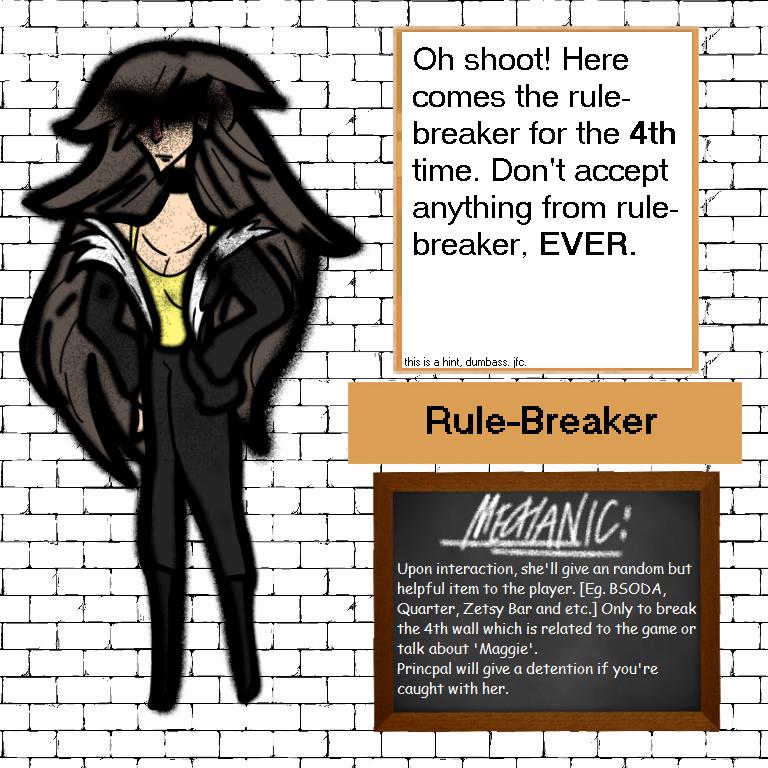 Baldi's Basics OC: Rule-Breaker by Cl0k1