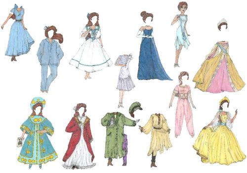 Anastasia paper doll