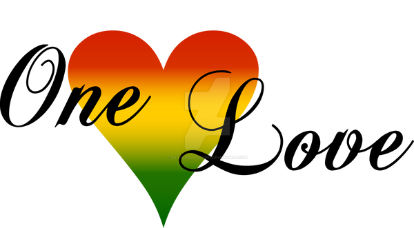 logo one love media rasta heart by dancehalldesigns on deviantart. Black Bedroom Furniture Sets. Home Design Ideas
