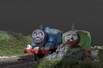 Sodor Fallout (Un-Affected) Thomas finds Percy
