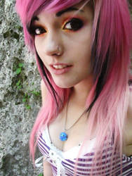 Lighter Pink and Black Hair Two by VallyDream