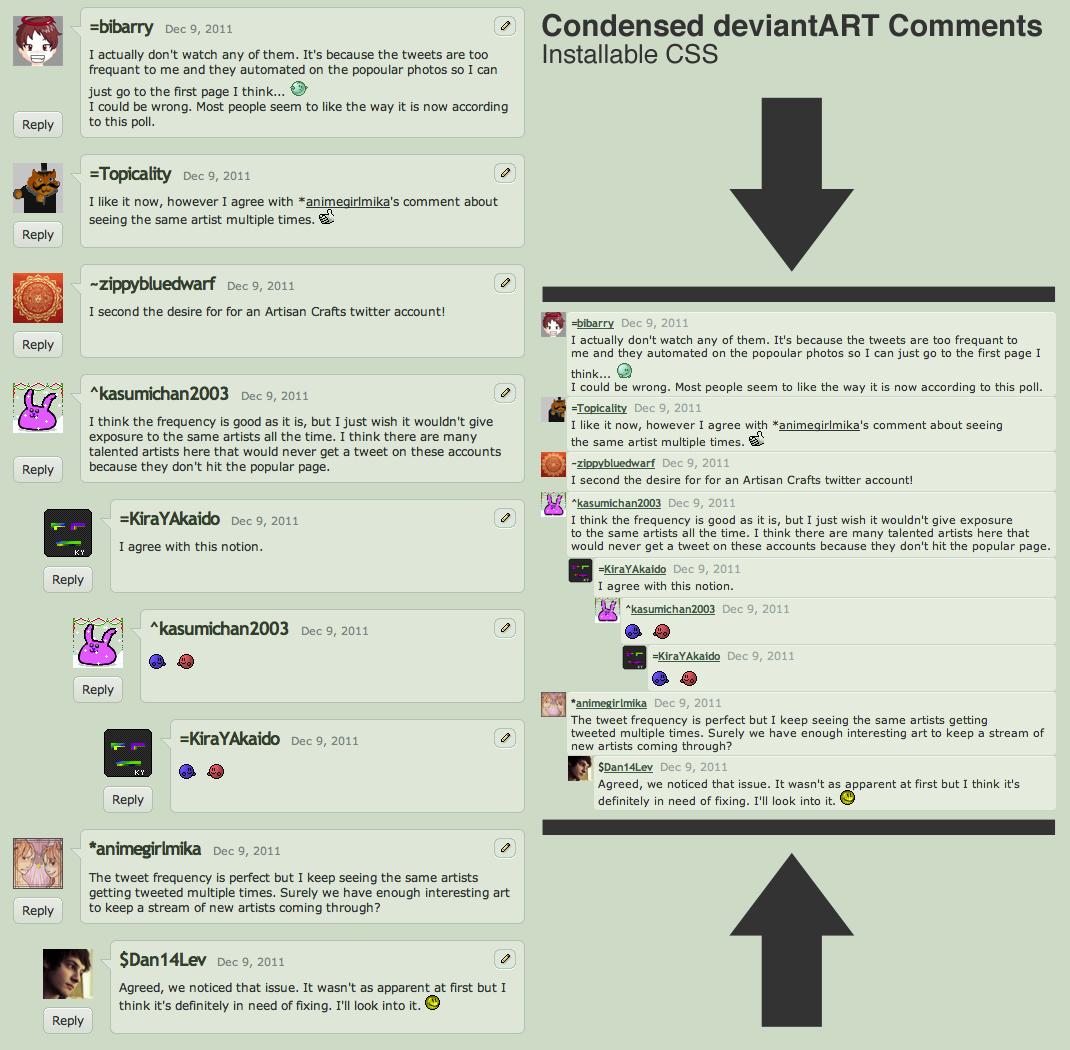 Condensed deviantART Comments by danlev