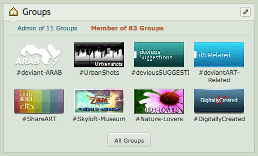 New Groups Widget by danlev