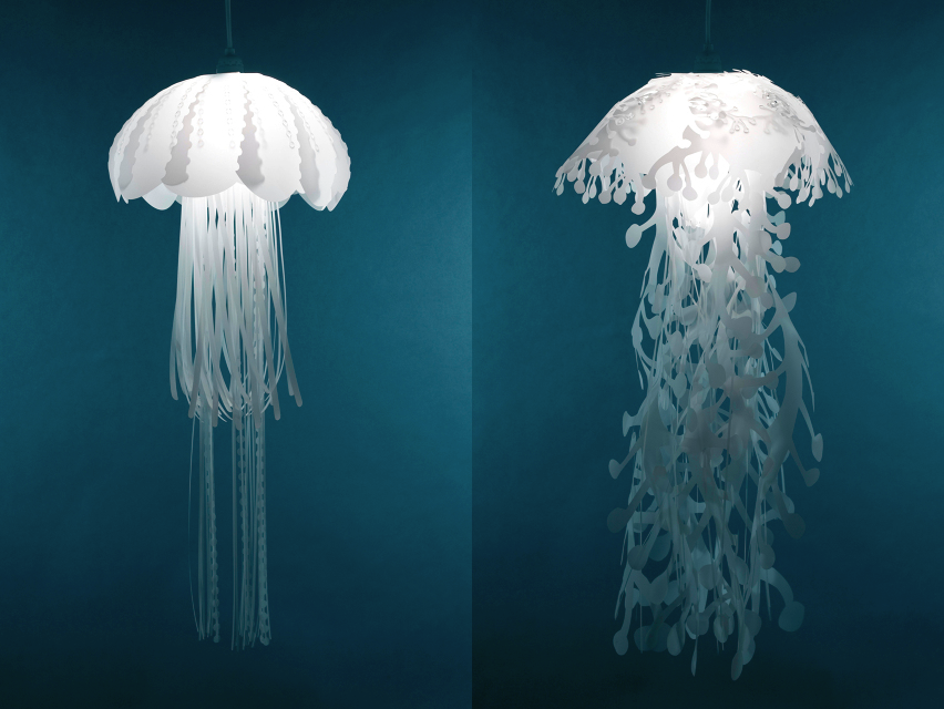 jellyfish inspired pendant lights by danlev on deviantart