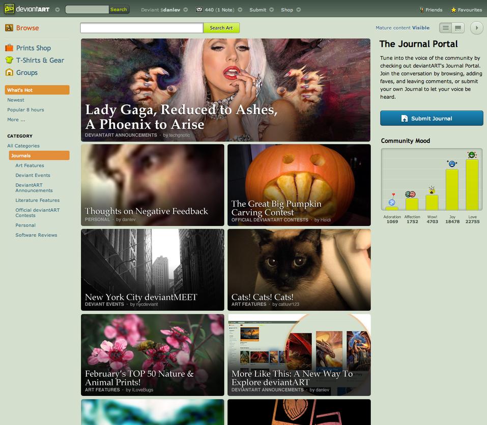 Revised Journal Portal Concept by danlev