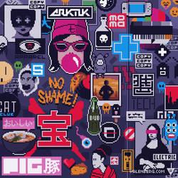 Sticker wall (1/4)