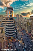 Gran Via, Madrid by tembleque