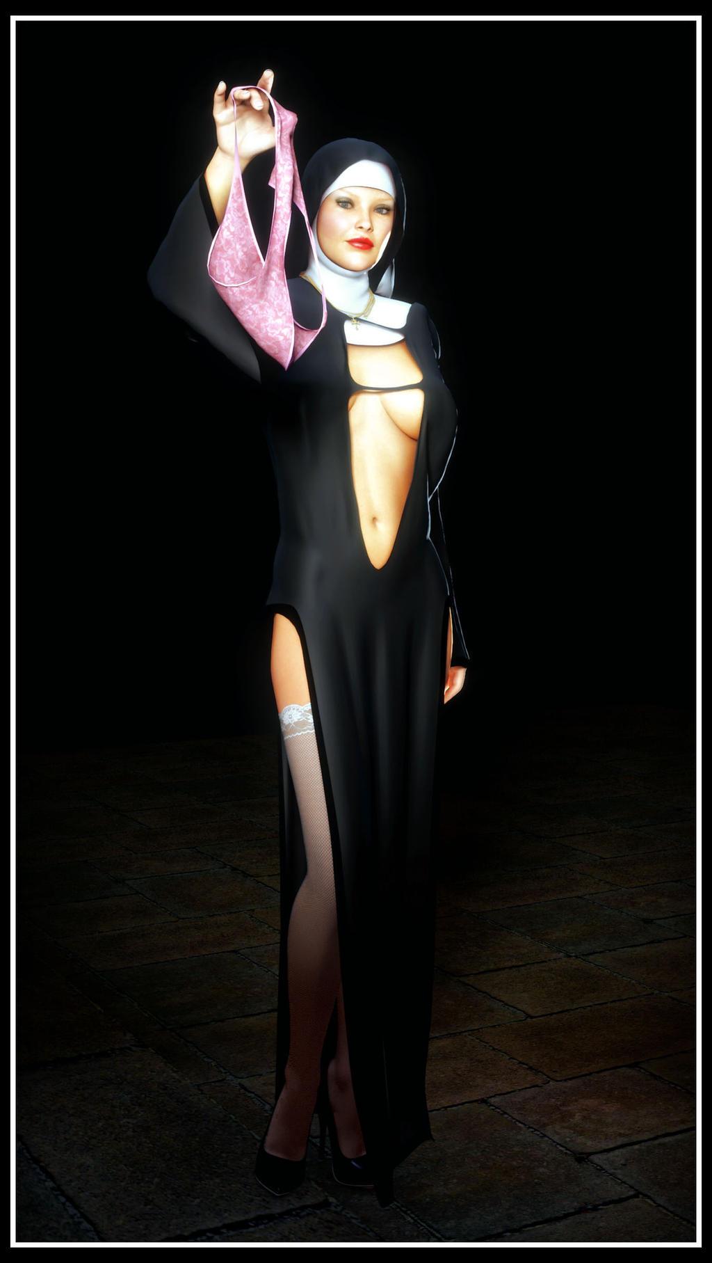 Pantiless Nun by madaigual