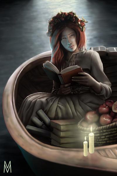 Tarot - High Priestess (Preview) by mintymeg