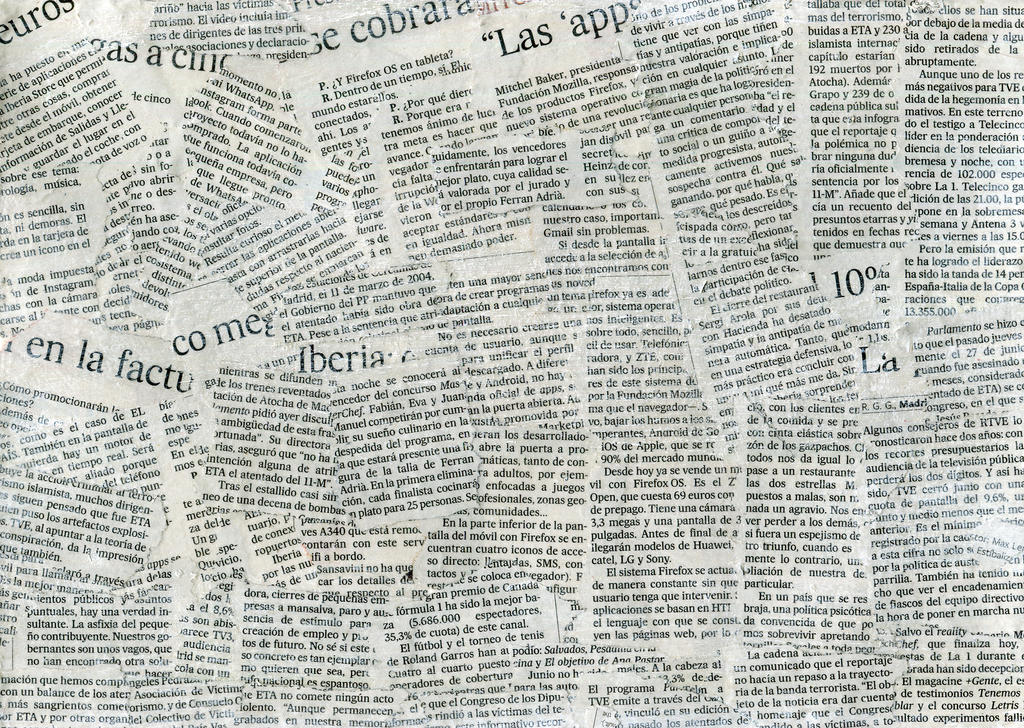 Newspaper Collage Texture By Flordeneu