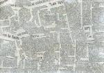 Newspaper collage texture