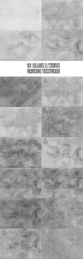 16 Black and White Grunge Textures