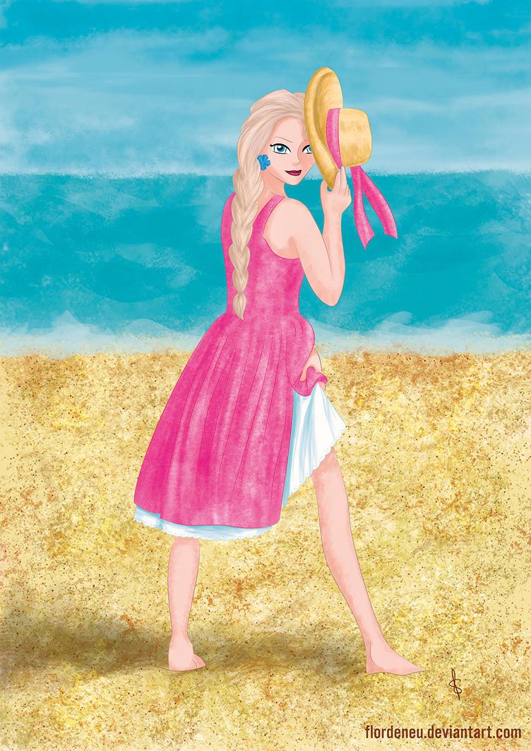 Summer Elsa by flordeneu
