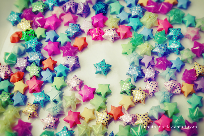 Origami Stars By Ntpdang On Deviantart