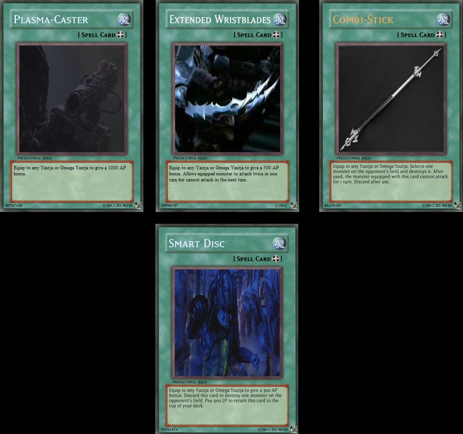 Yautja Weaponry Cards by Zelnodi