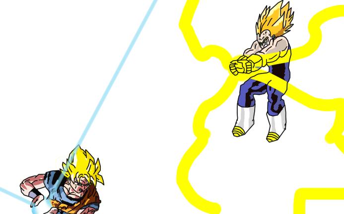 Goku Vs Vegeta Request By Zelnodi