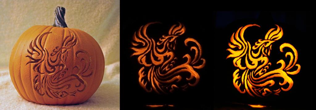 Phoenix Rising Pumpkin by strryeyedreamr27