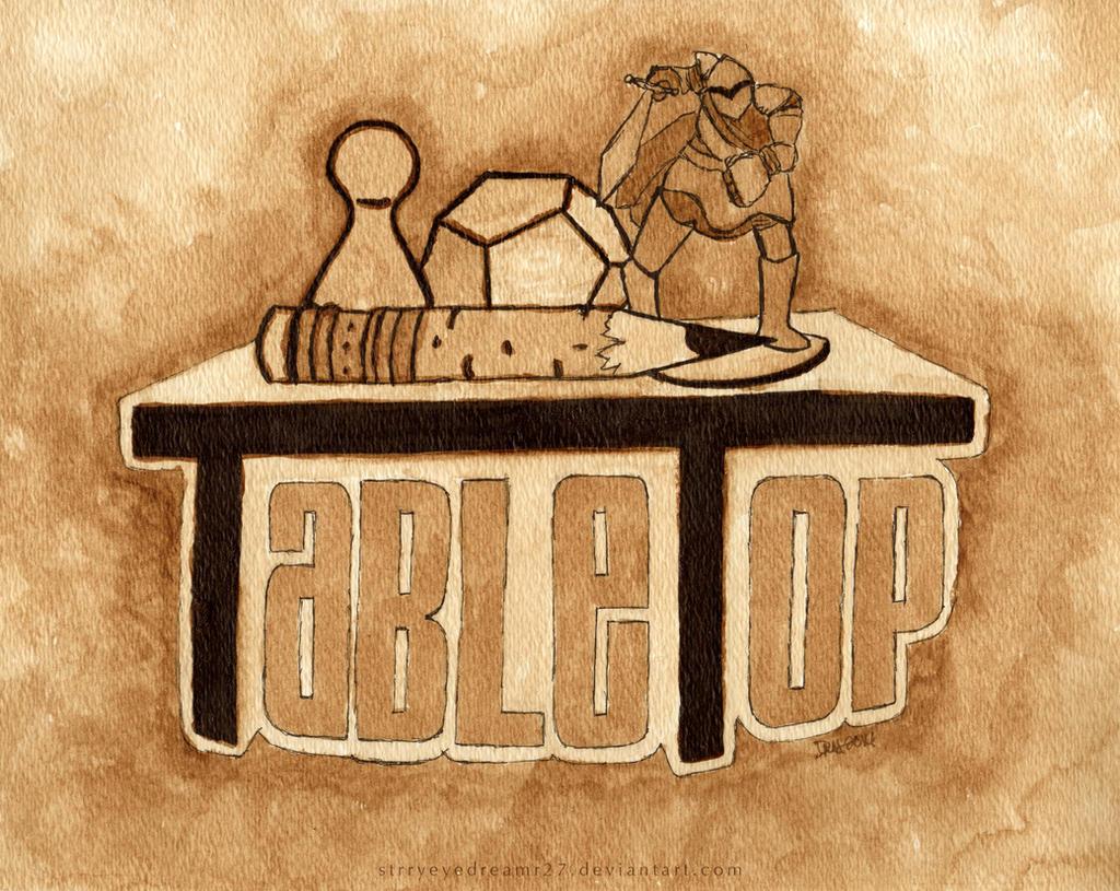 TableTop Logo in Coffee by strryeyedreamr27