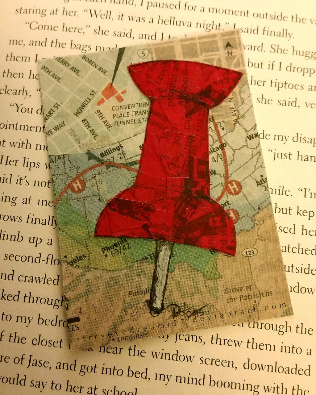 Paper Towns Book Cover Drawings ~ Aceo bookmark for paper towns by strryeyedreamr on