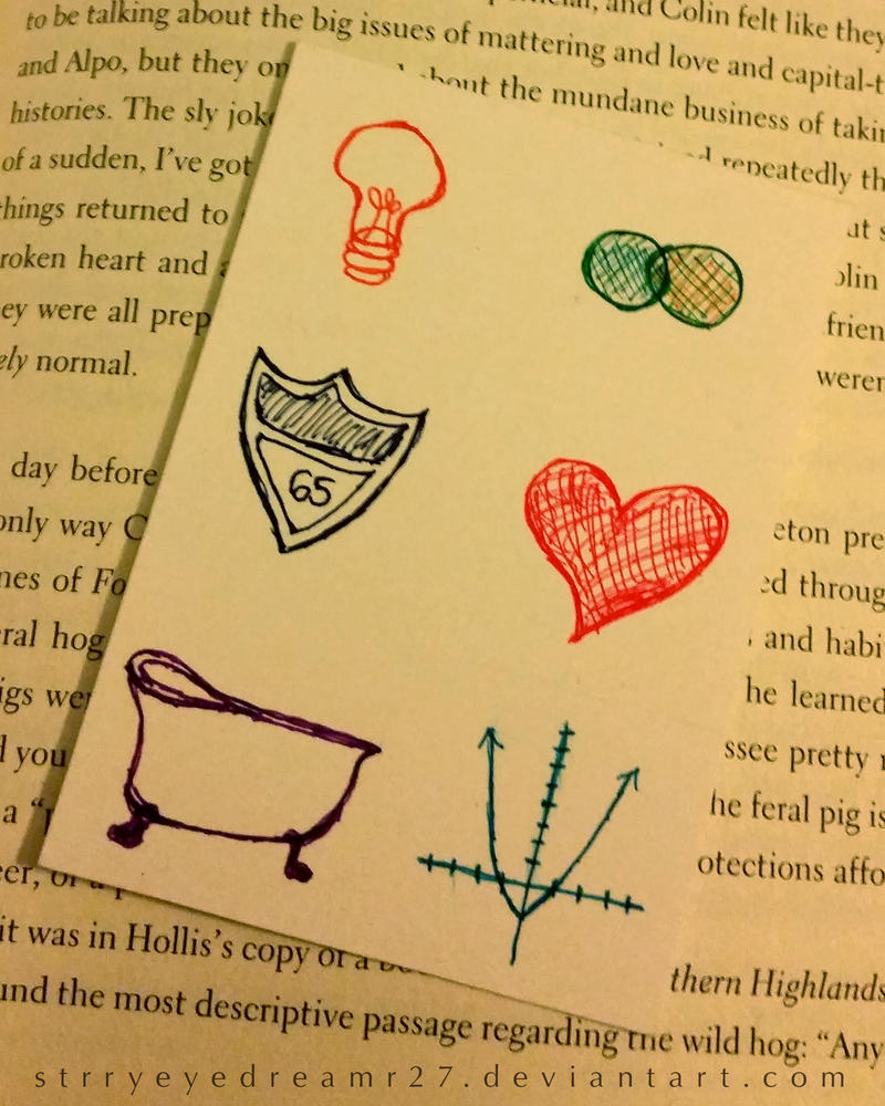 ACEO - Bookmark for An Abundance of Katherines by ...