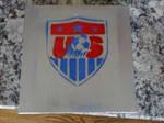 US Soccer Stencil