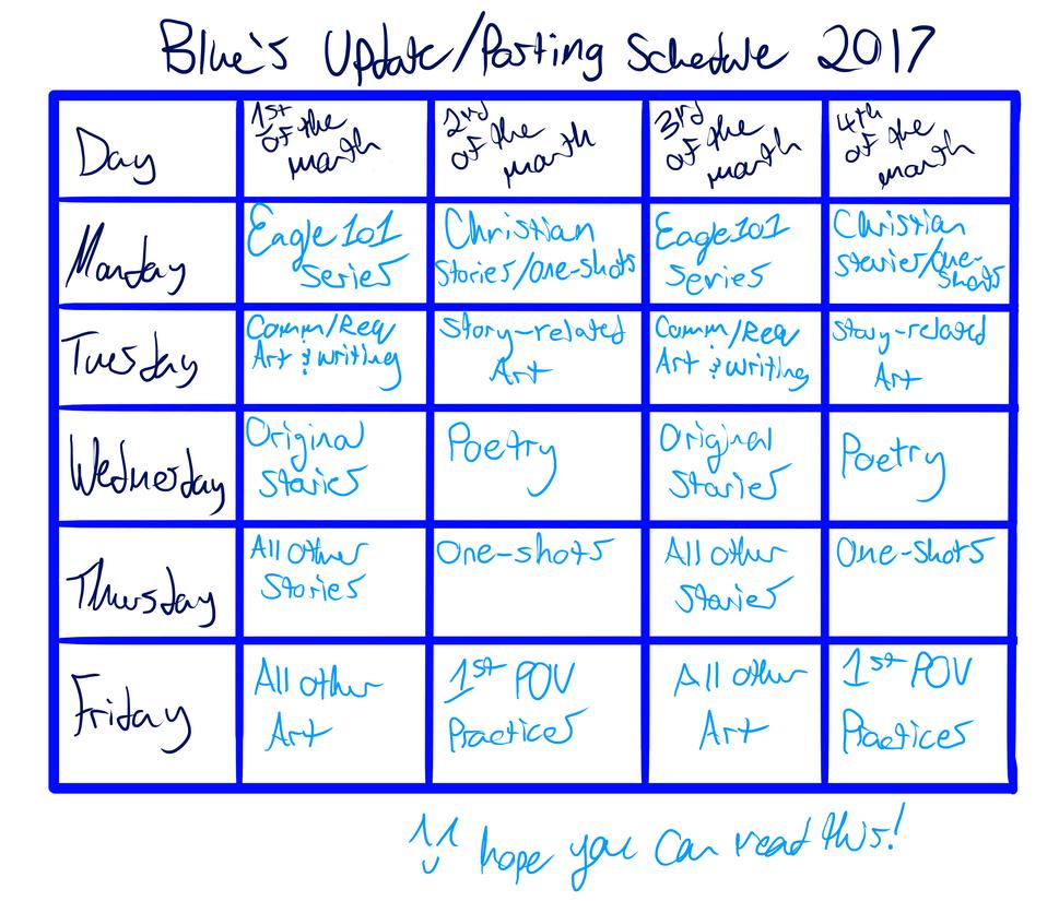 Schedule by JesusFreakBlue
