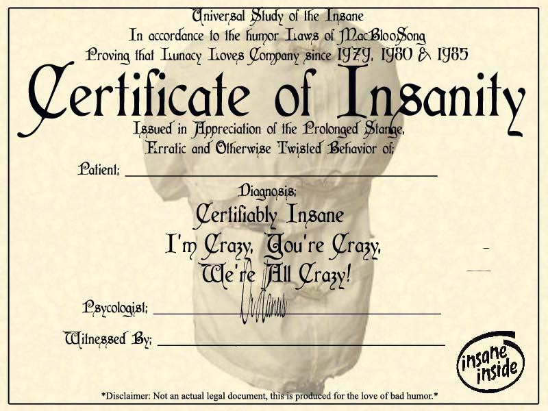 Certificate of insanity by sheepinthebigcity on deviantart certificate of insanity by sheepinthebigcity yadclub Image collections