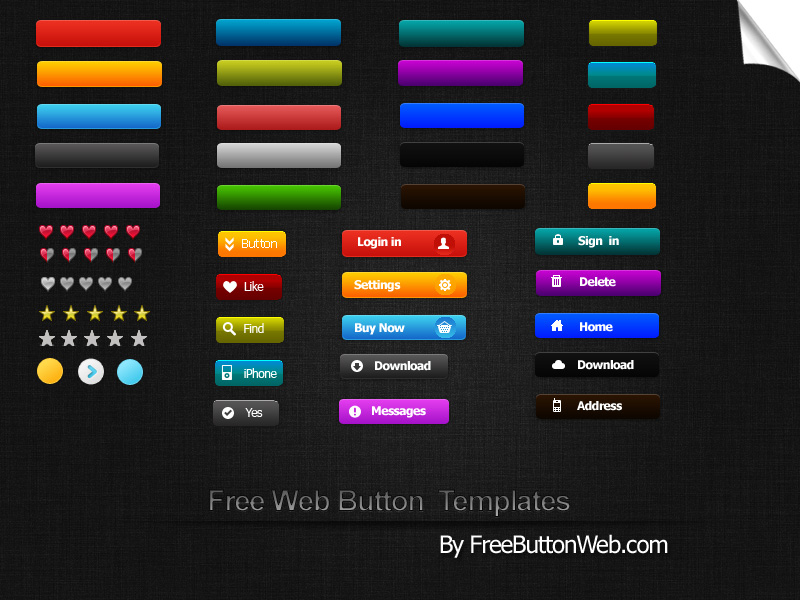 design a button template free - free web button templates by button finder on deviantart