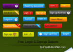 Free Login Sign up Buttons