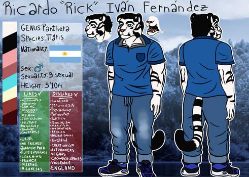 Rick Fernandez Reference sheet.