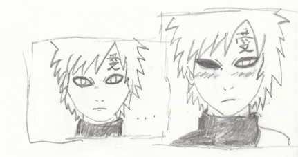 My Drawings by LeonKSpiderKitty on DeviantArt Gaara Blushes Episode