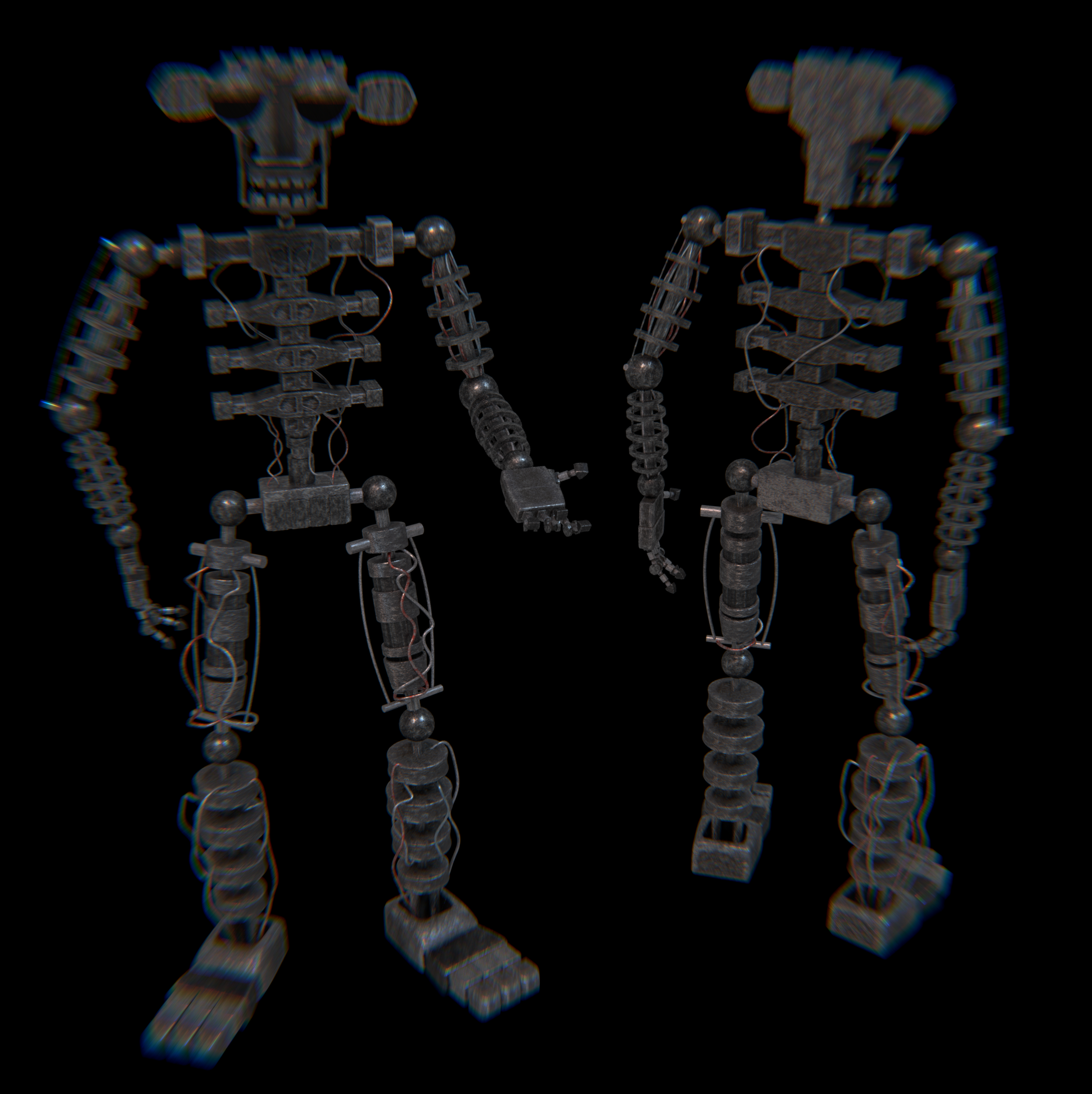 fnaf 2 endoskeleton rusty and old styled by