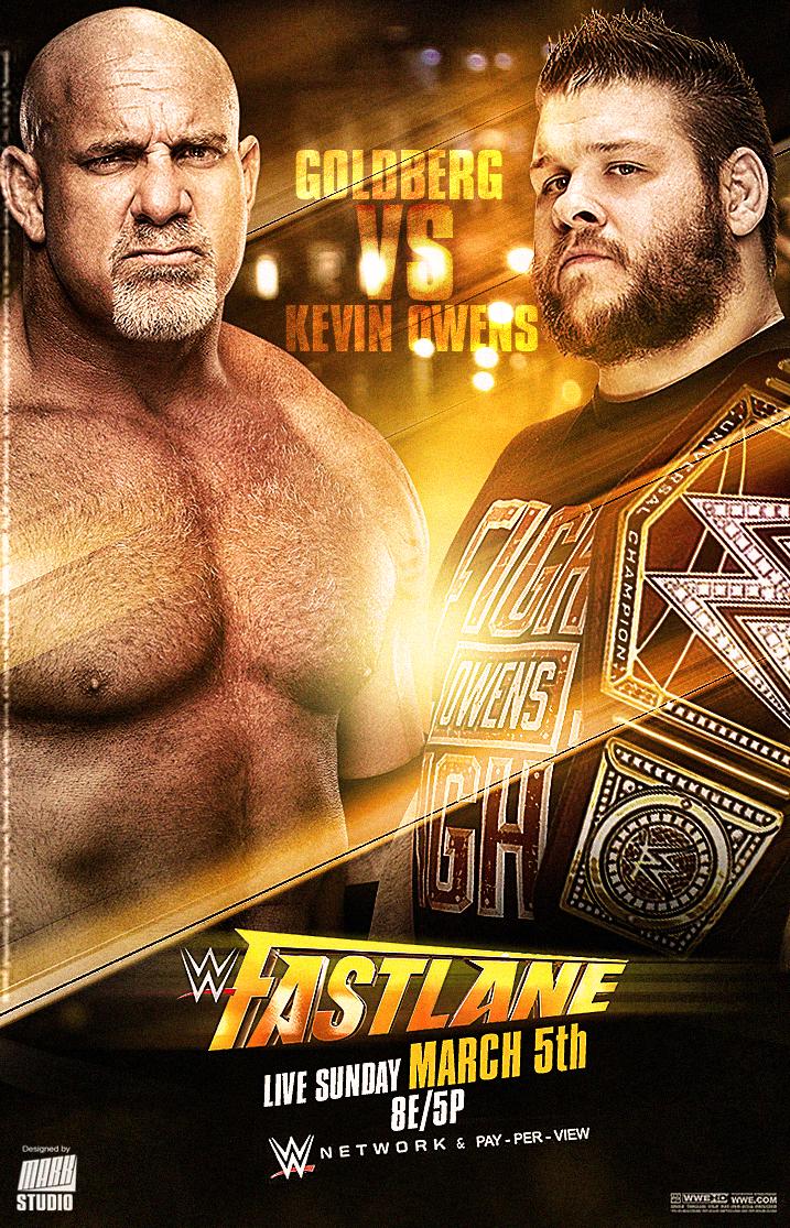 WWE Fastlane 2017 Poster by MARKStudio2017