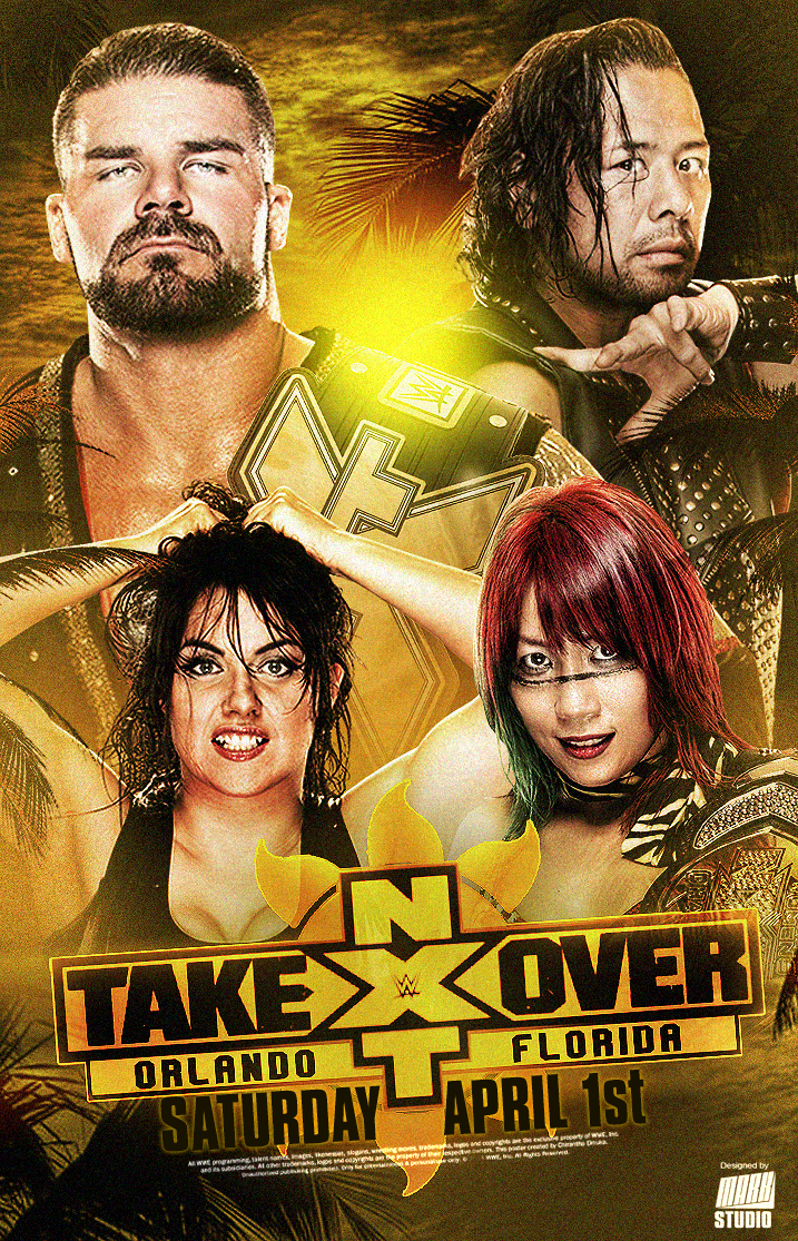NXT Takeover Orlando Poster by MARKStudio2017