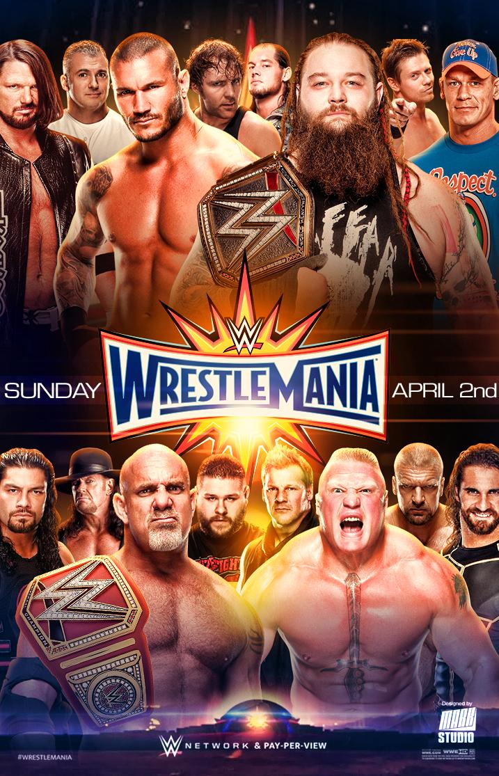 WWE Wrestlemania 33 Poster (V2) by MARKStudio2017