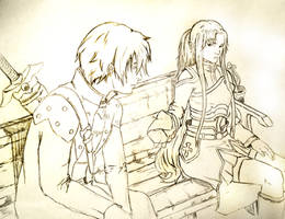 Kirito and Asuna Sword Art Online by thekingkellogg