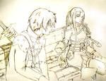 Kirito and Asuna Sword Art Online