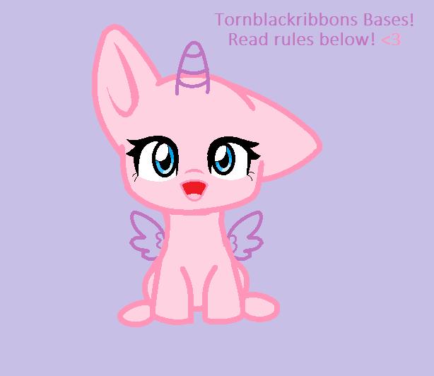 Chibi pony Base by Tornblackribbons