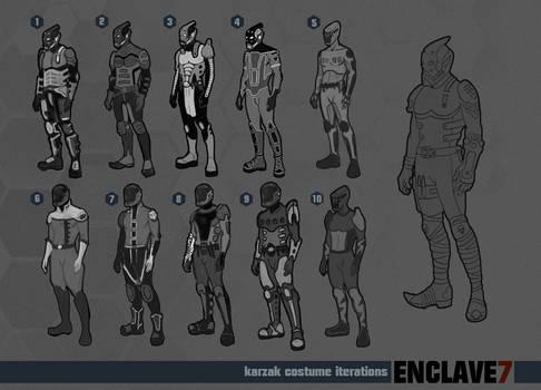 Enclave7 Karzak Costume Iterations