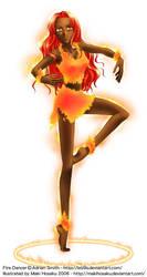 Commission: Fire Dancer by MakiHosaku