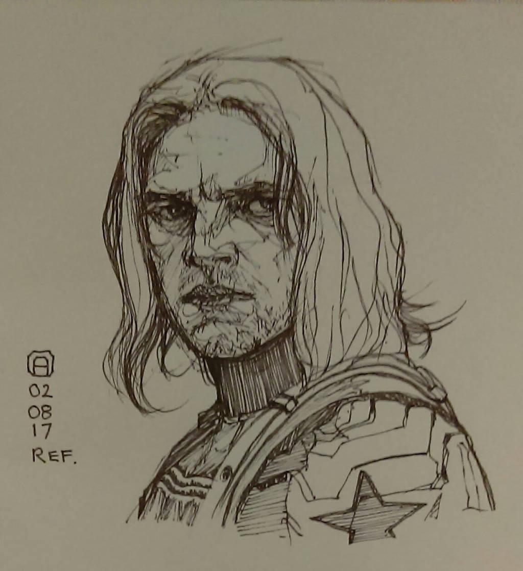 Winter Soldier sketch by artloadernet