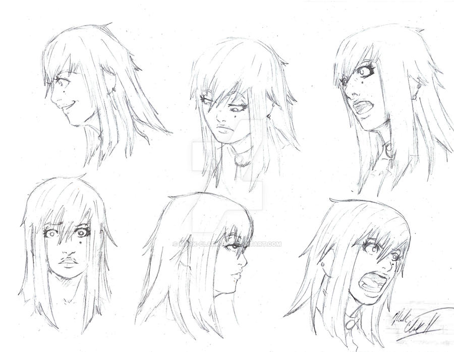 Crys- Expression Sheet by Mark-Clark-II