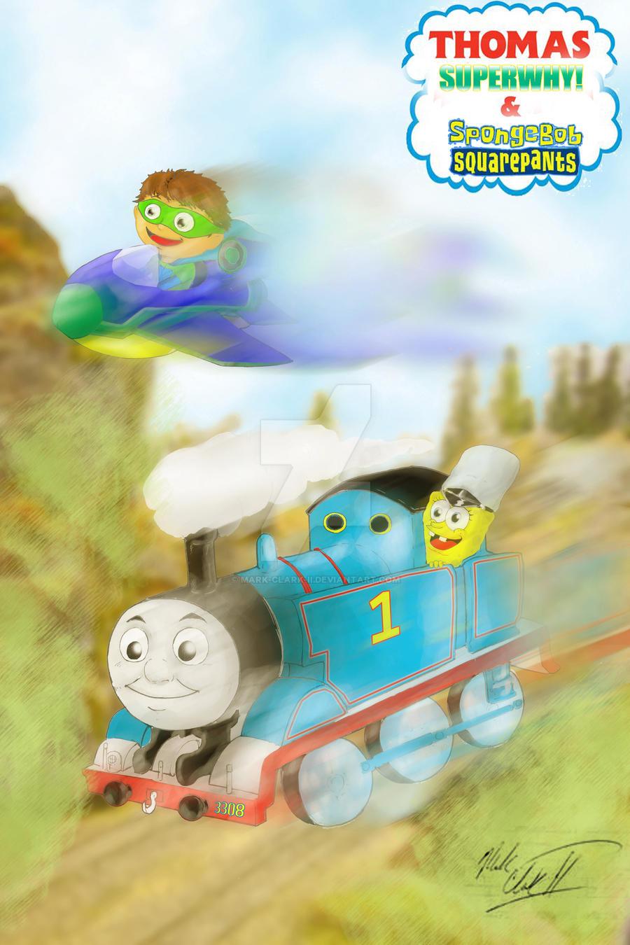 Thomas SuperWhy  Spongebob by Mark-Clark-II