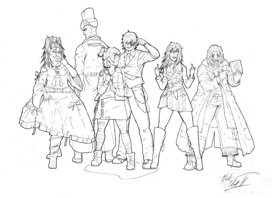 Eden Character Line-up by Mark-Clark-II