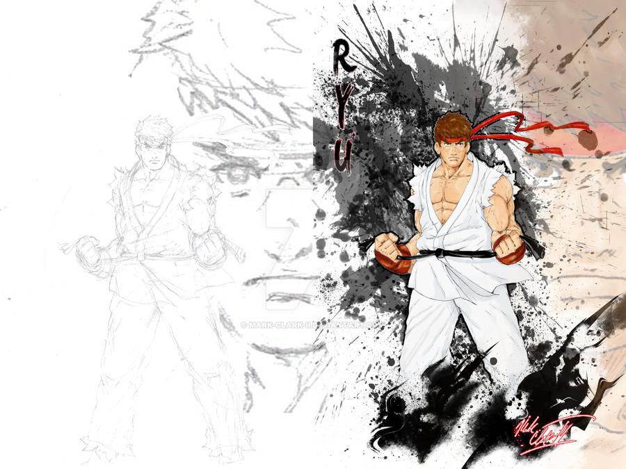 Ryu-Sketch and Finish by Mark-Clark-II