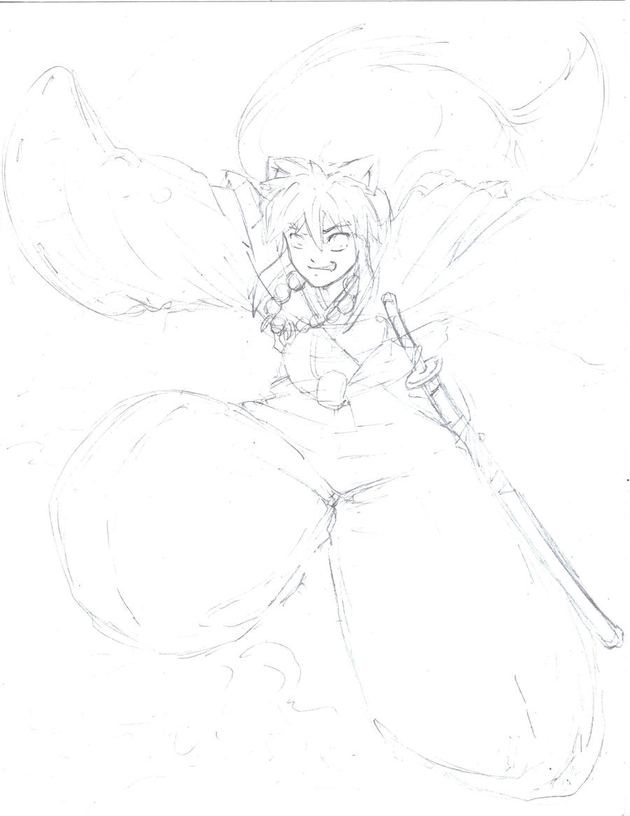Sketch-Inuyasha by Mark-Clark-II