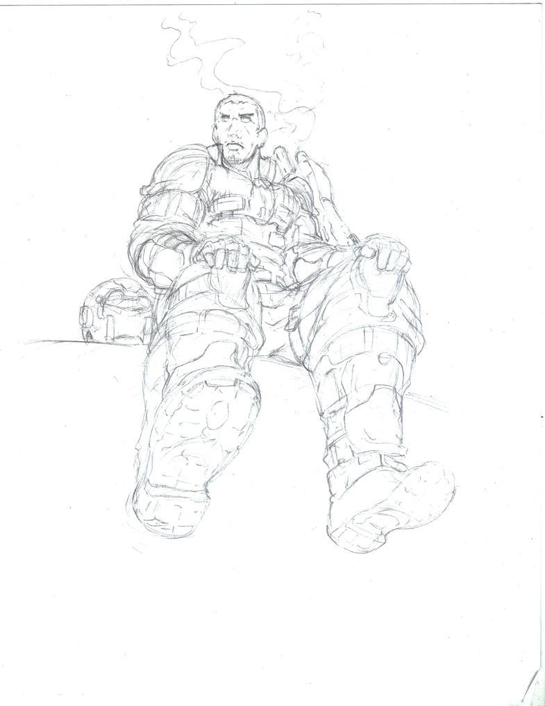 Sketch-Halo Marine by Mark-Clark-II