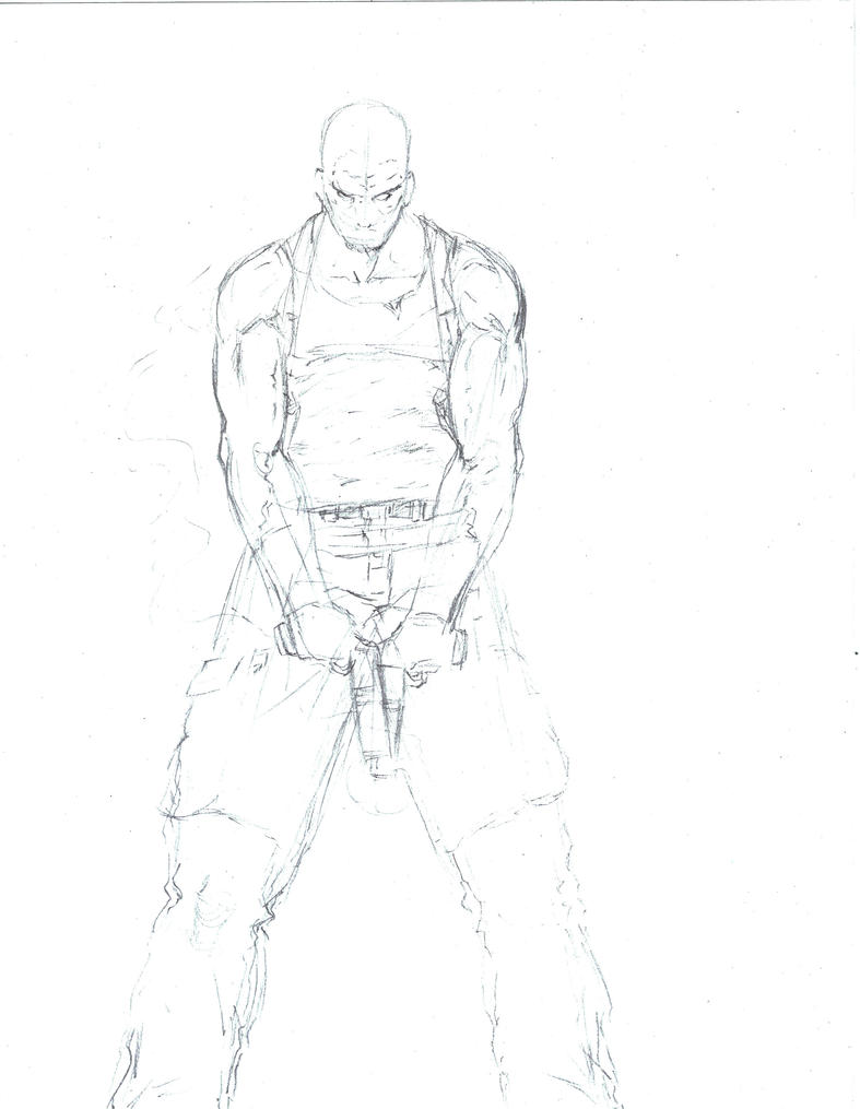 Sketch-Max Payne by Mark-Clark-II