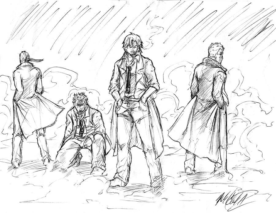 sketch-characters by Mark-Clark-II