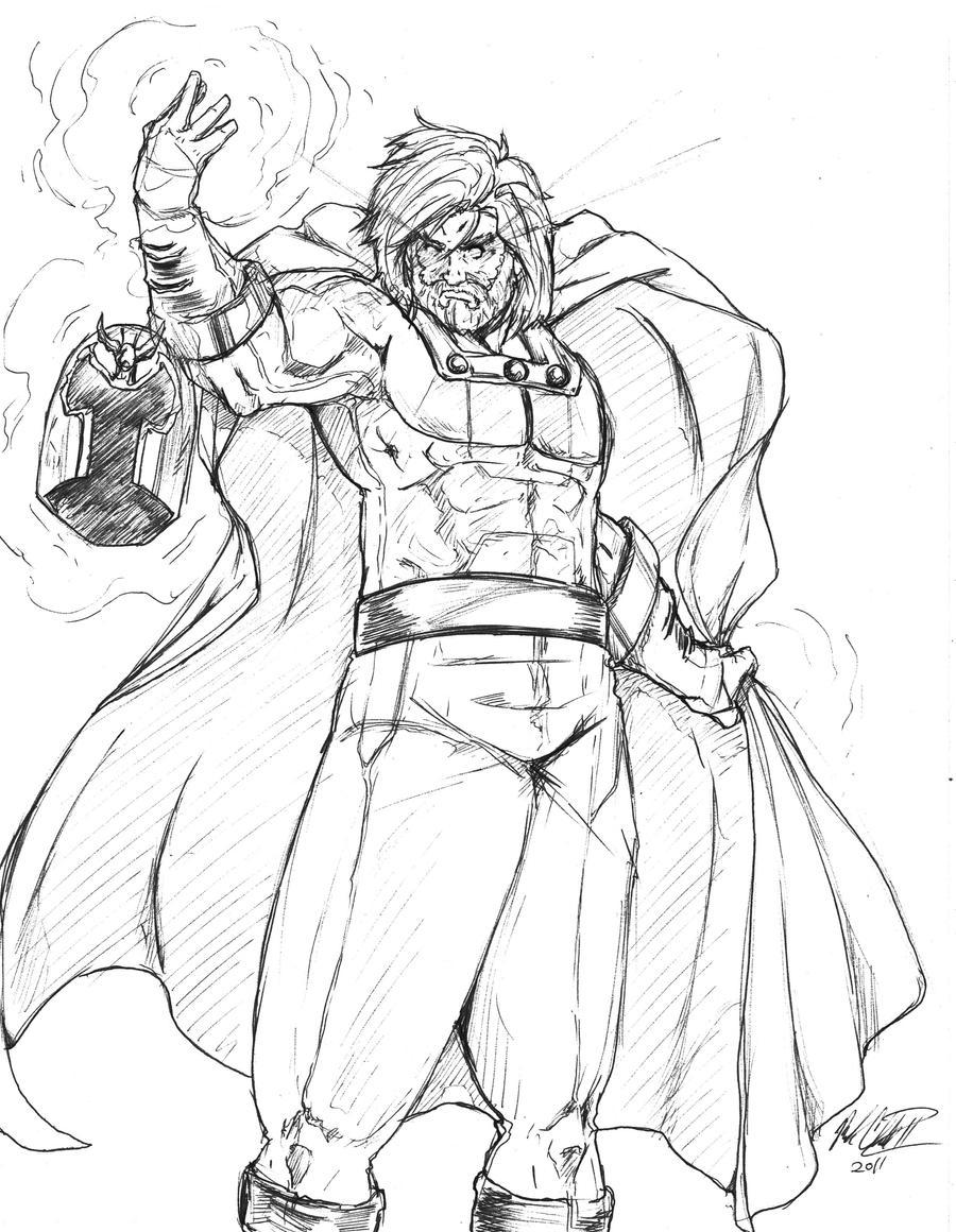 Sketch- Magneto by Mark-Clark-II
